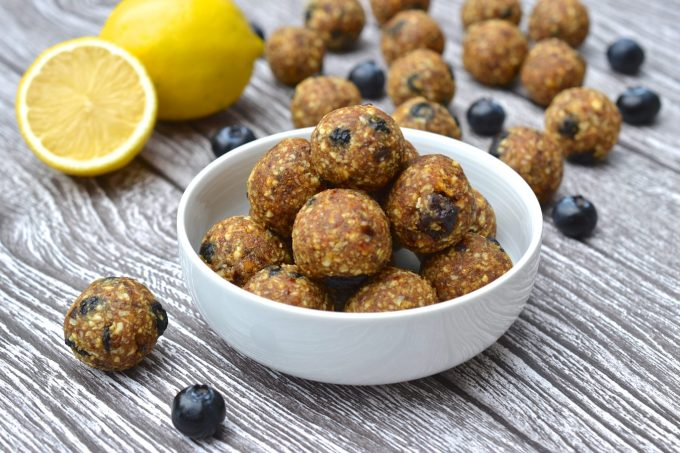 Lemon & Blueberry Energy Balls