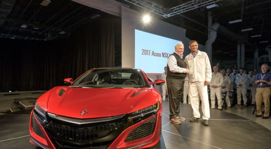 First serial production of 2017 Acura NSX begins in Ohio