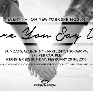 Pre-Marriage Class Spring 2016