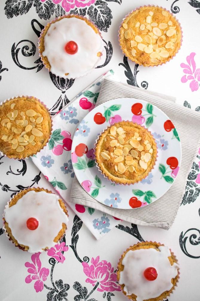 mini vanilla pastry bing cherry bakewells_
