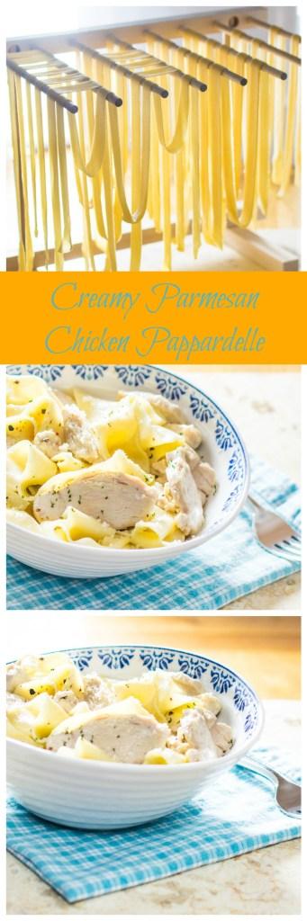 Creamy Parmesan Chicken Pappardelle