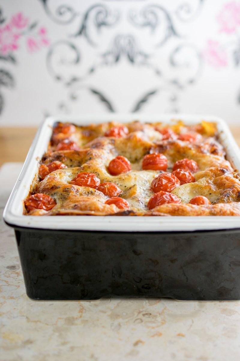 Chicken and Pea Lasagne