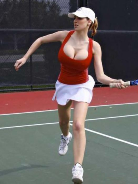 jordan carver playing tennis 4 tig ol bitties cool stuff the best 101  646 Pictures of Ladies with Major Big Boobage