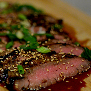 Evo Recipe Sesame Skirt Steak