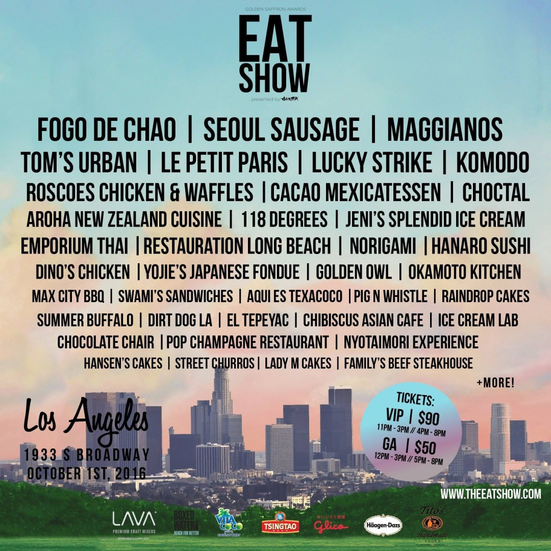 The first Eat Show is going down this weekend Oct 1st!