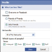 Profile settings: Click for full-size image.