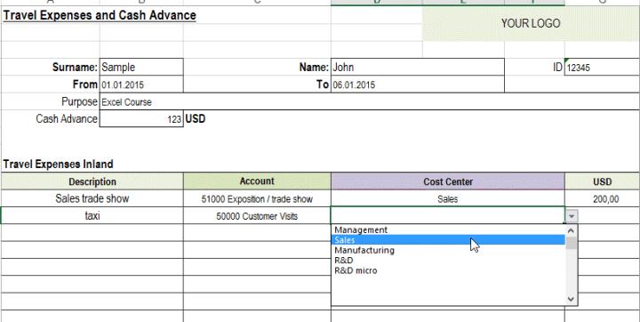 free excel travel expense report template joshymomo org