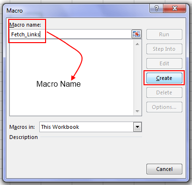 Create Macro In Excel
