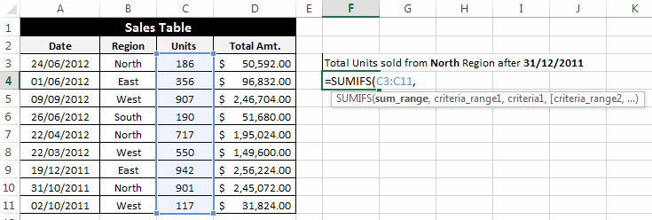 SumIFS-How-to-Use