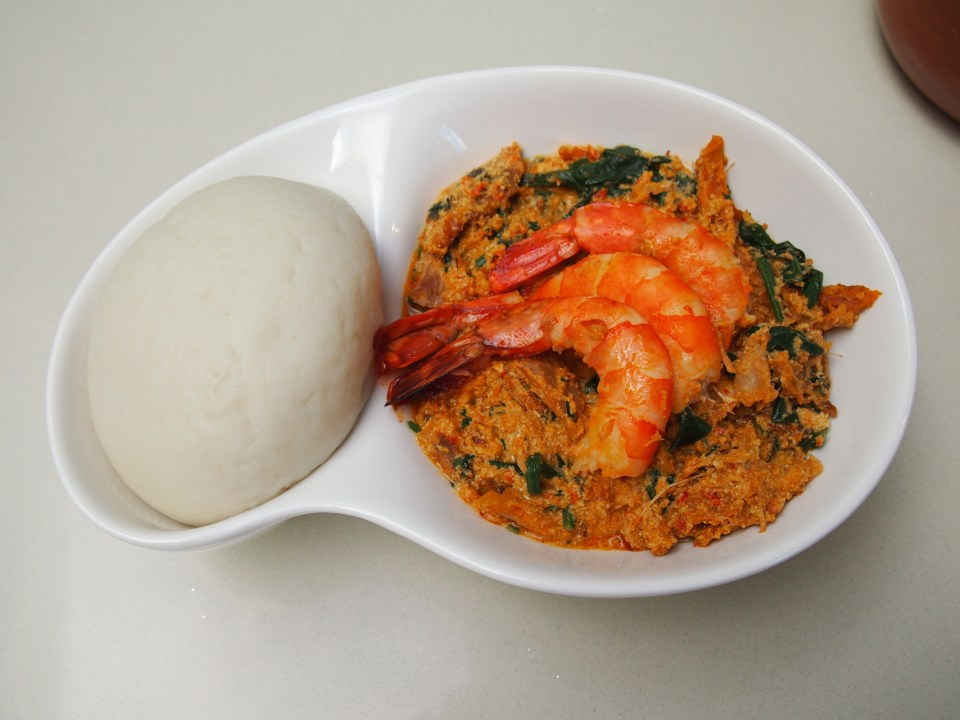 Egusi soup with Fufu