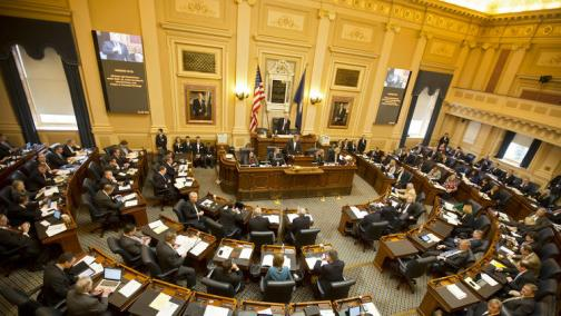 The House of Delegates meets during the first day of the 2015 General Assembly session on Wednesday in Richmond. (Kaitlin McKeown / Daily Press)