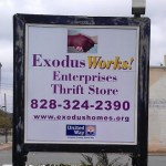 Exodus Works Store Sign