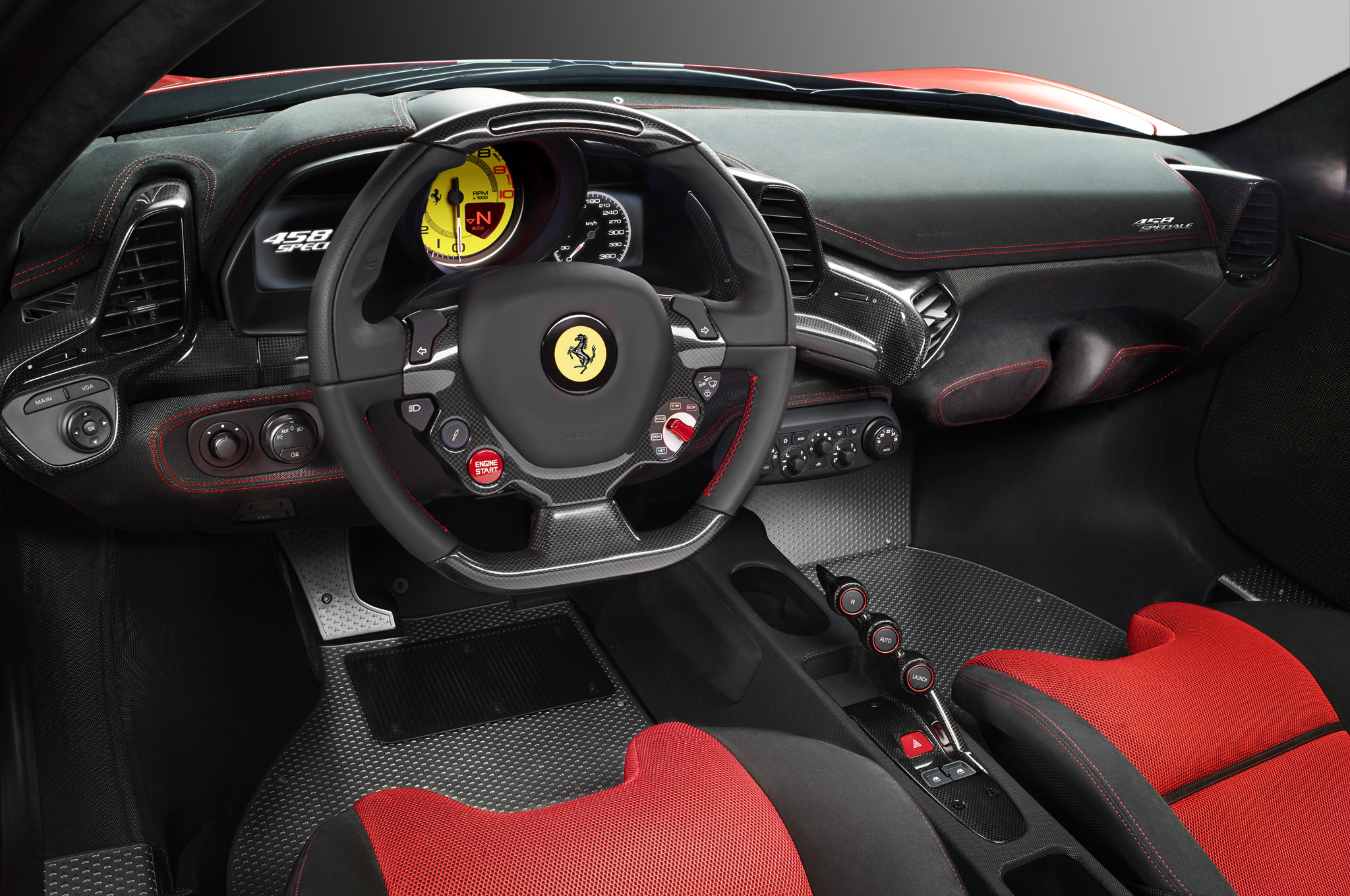 458 speciale interior