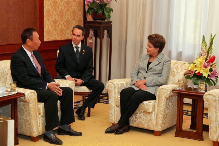 Pequim - China, 09/04/2011. Presidenta Dilma Rousseff durante encontro com o Senhor Terry Gou, Presidente da Empresa Foxconn no complexo Diaoyutai. Foto: Roberto Stuckert Filho/PR.