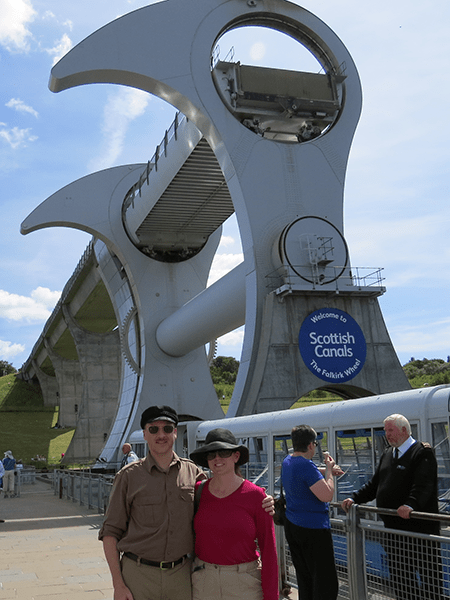Ed & Michelle in Scotland at the Falkirk Wheel