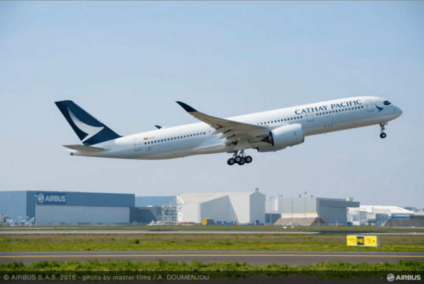 Cathay Pacific Airways (CX) First Airbus A350-900