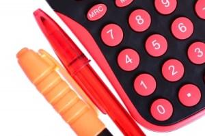 calculator image pink