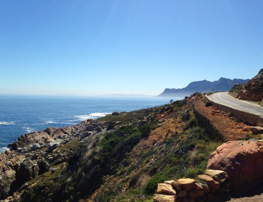 Winding coastal road in South Africa
