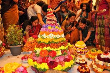 Making of Pedda Bathumma - Bathukamma Festival