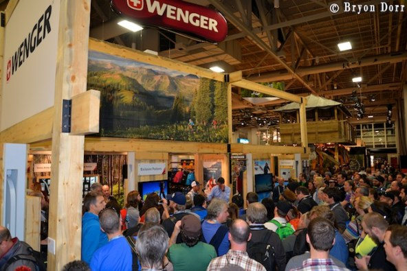 There are lots of giveways and talks from amazing adventurers every day at the show.