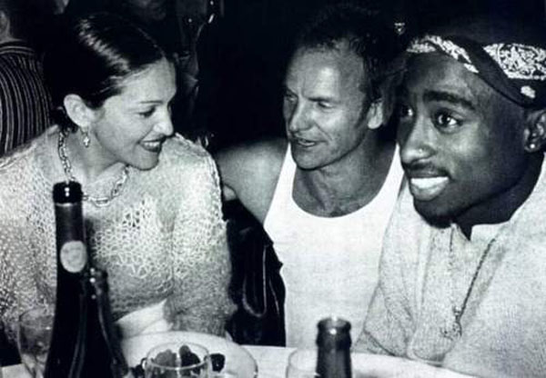 Madonna, Sting and Tupac hanging out