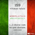 Número de vítimas fatais é atualizado para 159 na Itália