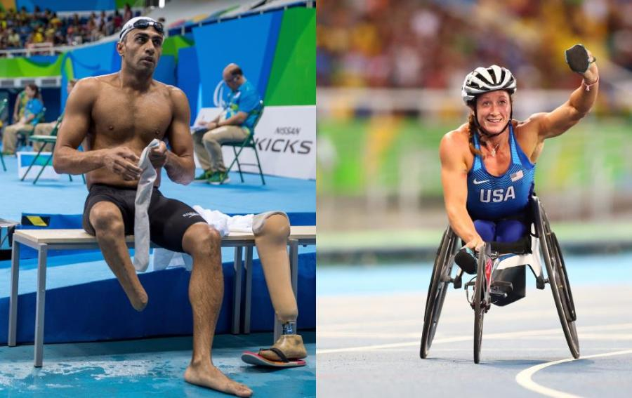 Ibrahim Al Hussein e Tatyana McFadden: premiados pelo IPC (Foto: Getty Images/Harry How)