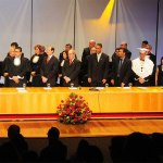 Bispo Luiz Vergílio discursa na posse do novo reitor da UNIMEP