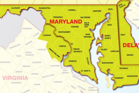 Map Of Md Va - Map of md