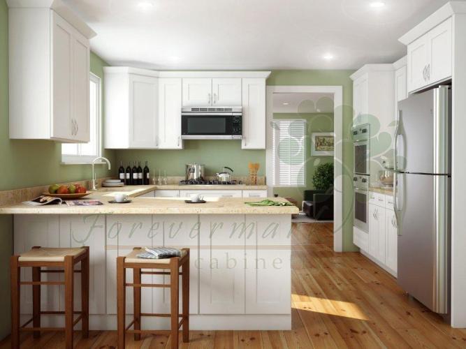 store assembled kitchen cabinets Ice White Shaker RTA Cabinets Signature Pearl RTA Kitchen