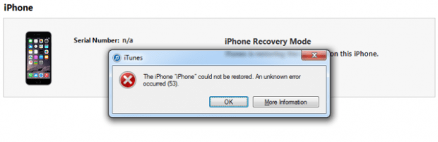 iPhone Error