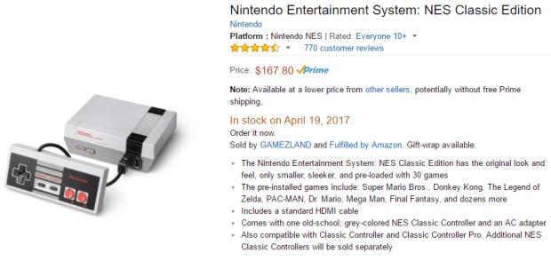 NES classic price hike