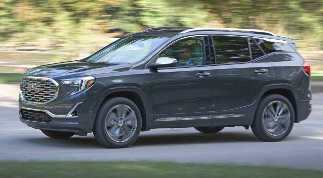 2018 GMC Terrain Review  An Upscale Compact SUV with Useful  and     The GMC Terrain has been downsized for 2018 into a more compact two row SUV   now sharply positioned against an array of US and international competitors  in