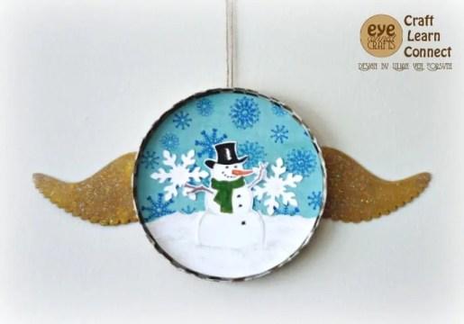 DIY snowman ornament.