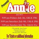 'Annie' Coming To Chesapeake Arts Center