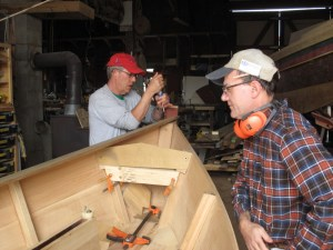 Apprentice for a Day public boatbuilding participants work together at the Chesapeake Bay Maritime Museum's boatshop in St. Michaels, MD while learning wooden boatbuilding techniques. The winter/spring session kicks off on Saturdays and Sundays, January 4 through June 8. Participants will be constructing a lapstrake sailing skiff from start to finish. Be a part of the entire 21-week process, or just sign up for the stages of the boatbuilding process that interest you. The full schedule and sign-up information is available at www.cbmm.org/l_boatyard.htm or by calling CBMM Boatyard Program Manager Jenn Kuhn at 410-745-4980.