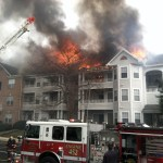 3-Alarm fire damages Odenton apartment building