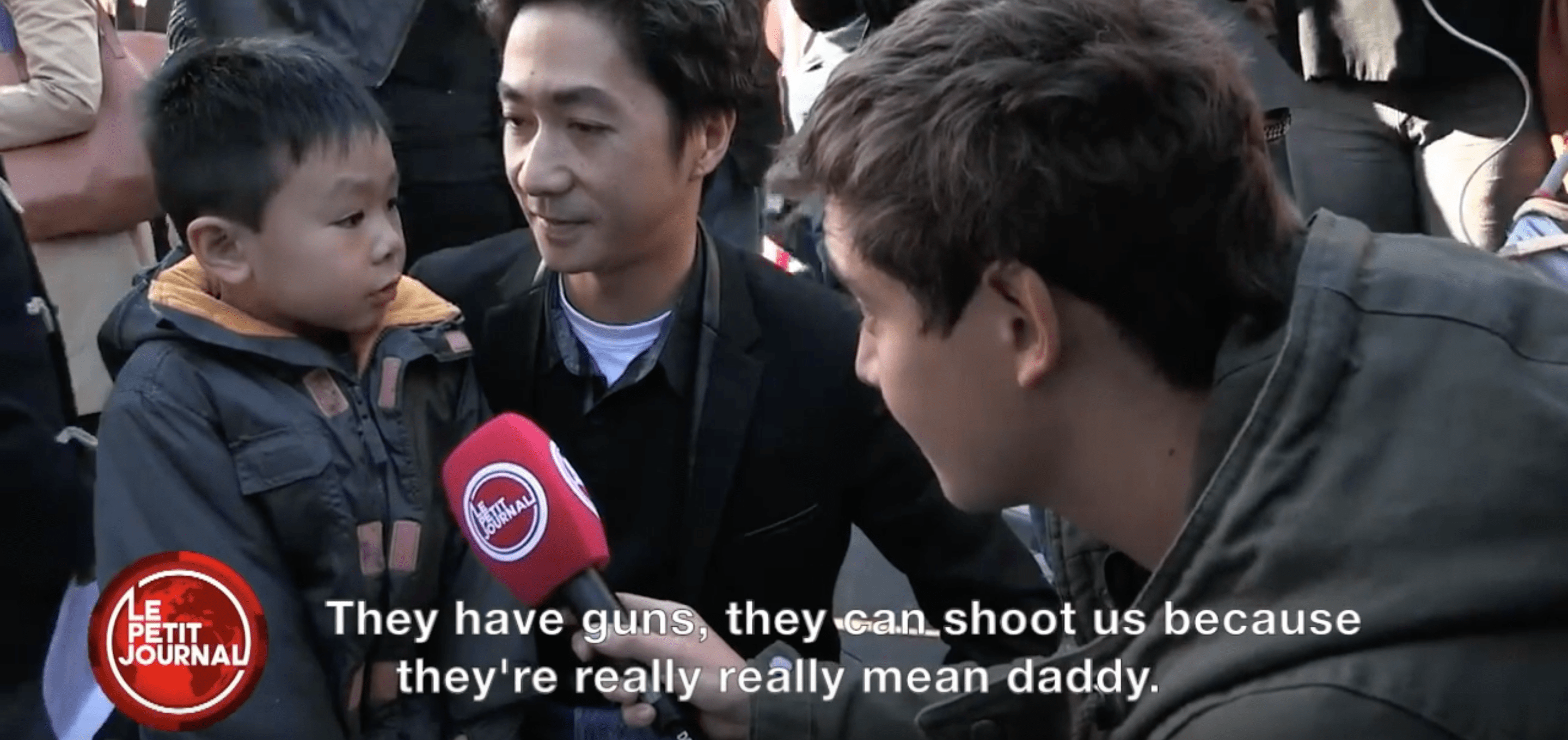 Father and Son have the most precious conversation about Paris attacks (Le Petit Journal)