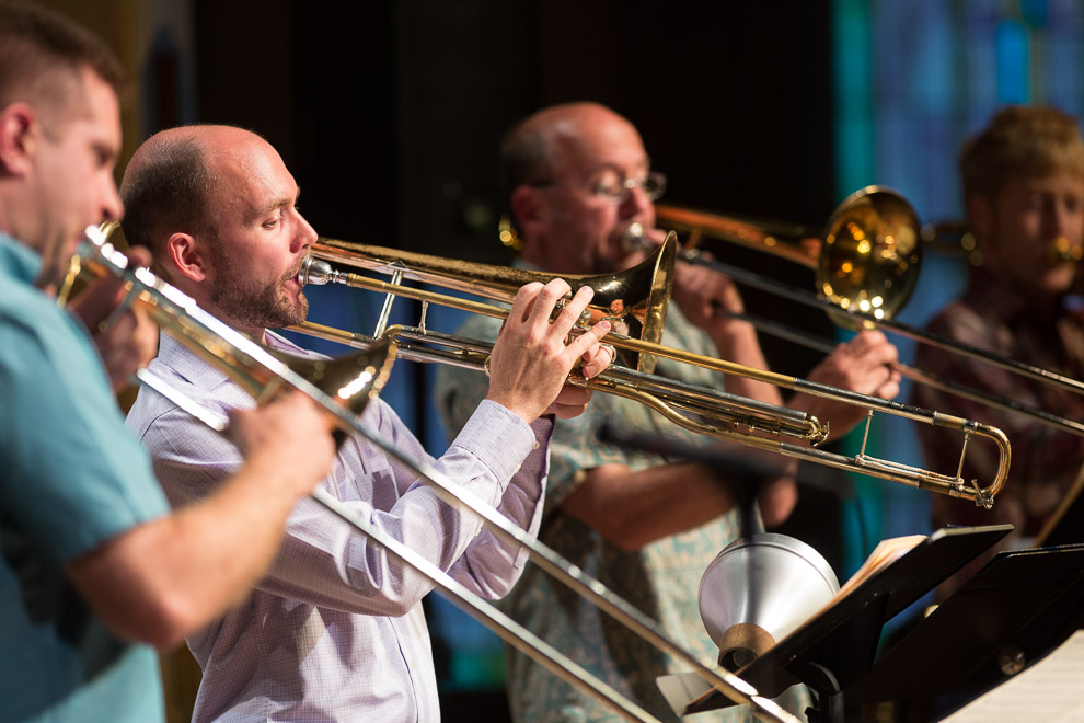 David Marriott and his jazz trombone quartet Slushpumpers Union