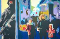 O.T. (weihnachtliches Heidelberg 01) 80 x120 cm - Acryl auf Leinwand - 2013