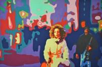 O.T. (weihnachtliches Heidelberg 02) 80 x120 cm - Acryl auf Leinwand - 2014