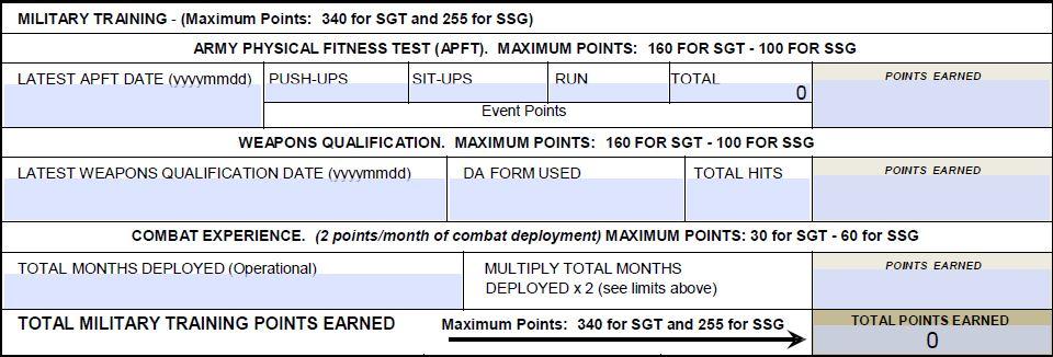Promotion Points Worksheet – expandingme.co