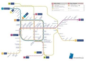 Carte du réseau métro et chrono