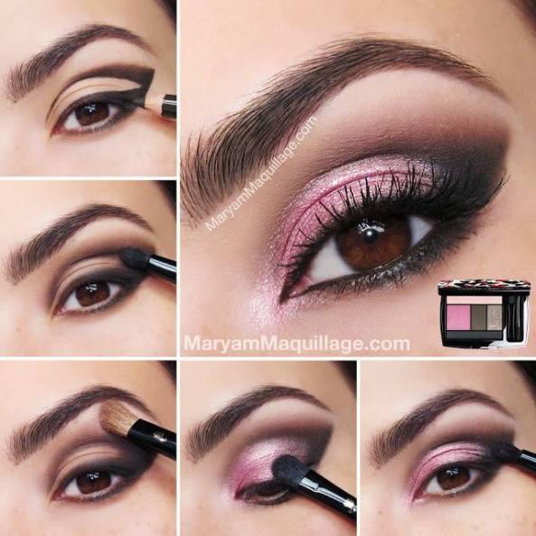 Stunning Hot Pink Smokey Eye Makeup Tutorials4