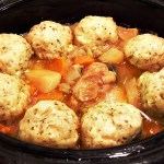 Chicken Casserole & Cheesy Herb Dumplings