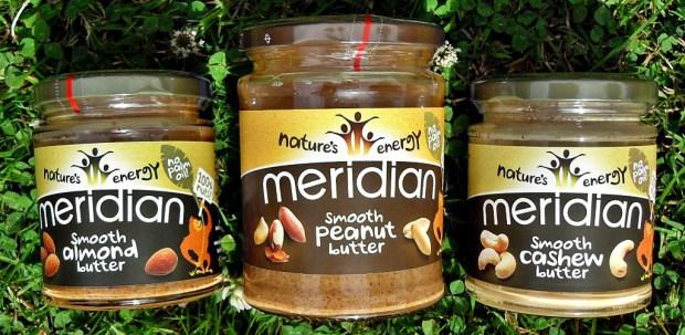 Meridian Nut Butters, Cashew, Peanut, Almond