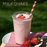 Strawberry & Coconut Milkshake, smoothie, drink, shake, strawberries, coconut