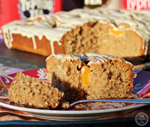 Peach, Tea & White Chocolate Traybake - Fab Food 4 All