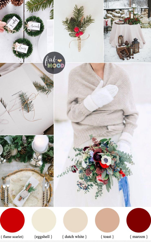 Favorite Neutral Shades Maroon Winter Wedding Wedding Color Color Schemes Wedding Color Schemes Colour Schemes houzz-03 Christmas Color Schemes