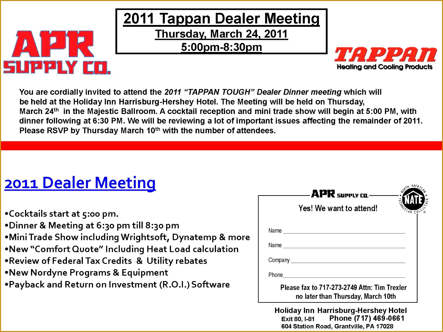 Dealer Meet Invitation